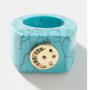 Anthropologie Turquoise Mystical ring